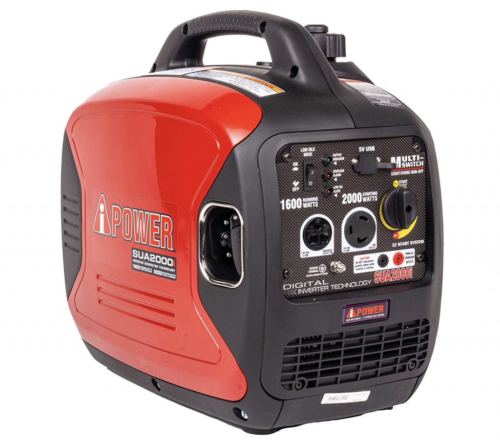 Small Generator with Super Quiet Operation for Home, RV, or Emergency
