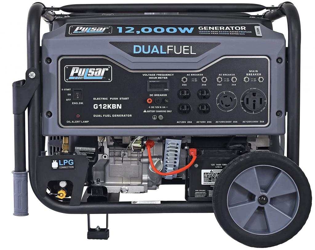 Gas and LPG Powered Generator
