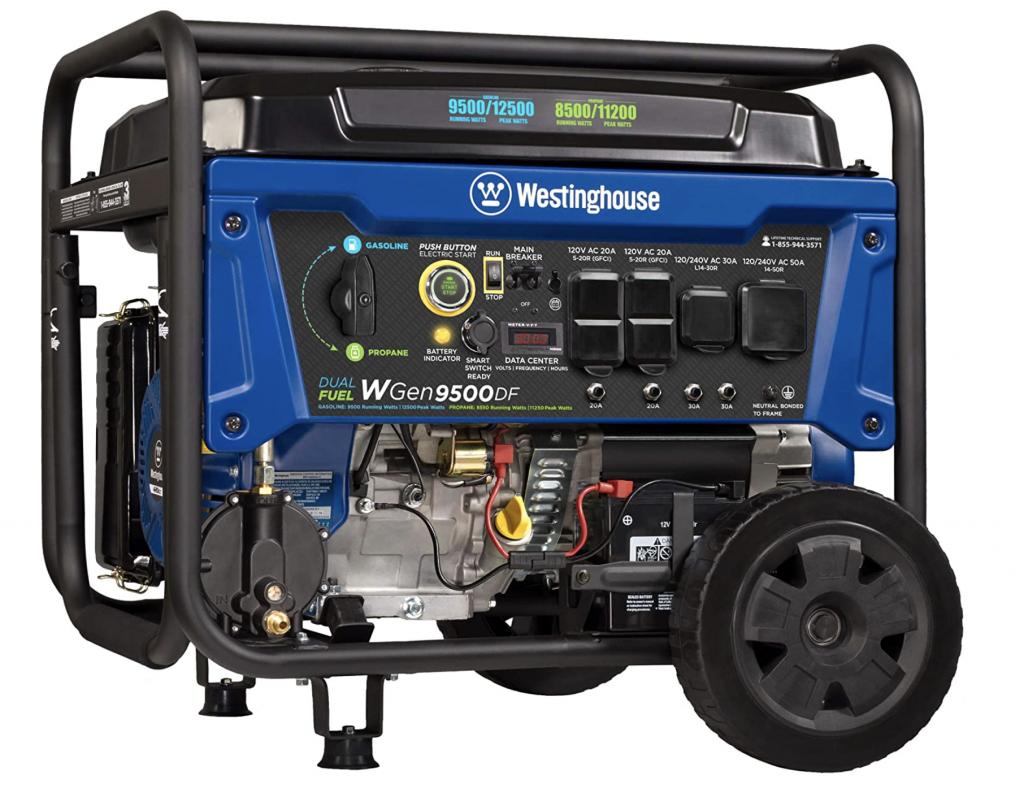 Dual Fuel Portable Generator-9500